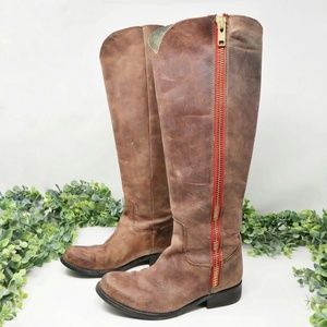 Steve Madden Ruse Leather Riding Knee High Boots 7
